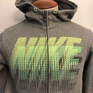 Vintage Nike Full Zip Hoodie Sweatshirt Spell Out